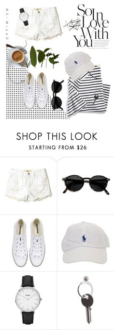 """""""Untitled #84"""" by kallimanis ❤ liked on Polyvore featuring Hollister Co., Converse, CLUSE and Maison Margiela"""