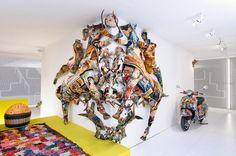 Installation spectaculaire Rorsch'art pour le salon Maison & Objet en janvier 2012.