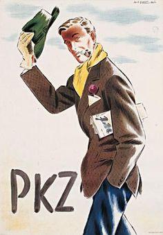 Franco Barberis (1905-1992), PKZ (Man Tipping His Hat)