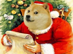 we wish you a merry doge and an happy new doge wow santos christmas - Christmas Doge