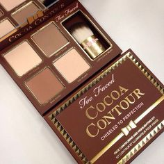 Too Faced Cocoa Contour Chiseled to Perfection Palette Beauty - Makeup - Macy's Kiss Makeup, Love Makeup, Makeup Inspo, Makeup Inspiration, Maquiagem Too Faced, Just In Case, Just For You, Beauty Make-up, High End Makeup