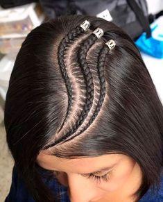 Cornrow Hairstyles For Men, Smart Hairstyles, Lil Girl Hairstyles, Cool Braid Hairstyles, Easy Hairstyles For Long Hair, Baby Hair Cut Style, Hair Dyed Underneath, Hair Styler, Hair Hacks