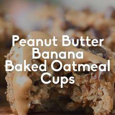 Keto Oatmeal, Banana Oatmeal Muffins, Baked Oatmeal Cups, Oatmeal Cake, Peanut Butter Banana Bread, Peanut Butter Oatmeal, Healthy Peanut Butter, Peanut Butter Recipes, Keto Banana Bread