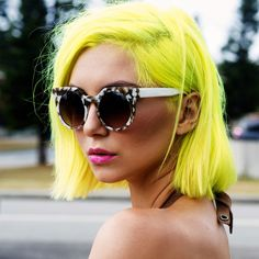 Hair Styles In Every Color To Inspire Your Summer Look : Yellow ♡