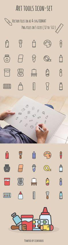 freebie art tools icon set free ai svg illustrator screenshot grafik Freebie: Art Tools Icon Set for Illustrator (AI, SVG & PNG) Design Ios, Tool Design, Flat Design, Icon Set, Art Icon, Icon Icon, Doodle Icon, Desenho Tattoo, Cute Icons
