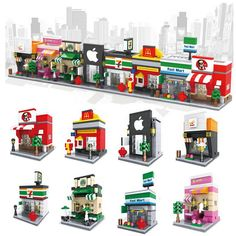 3D Mini City Building Blocks Model Building Kits, Building Toys, Mini Apple, Property Development, City Architecture, Urban Planning, City Buildings, Display Boxes, City Streets