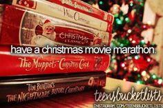 have a christmas movie marathon