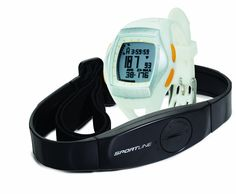 Sportline 1060 Women'S Solo Heart Rate Monitor. Multi-function heart rate monitor watch with pedometer and Any Touch Buttonless Technology. Continuous and On-Demand heart rate monitor; Intelli-Track heart rate zone perimeter display. Pedometer monitors time, distance, speed, and strides. Chronograph and countdown timer; 24/12 hour clock with alarm; 7-workout memory. EL backlight for use after dark; 5-year warranty.