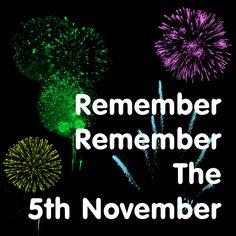 Remember Remember The 5th November