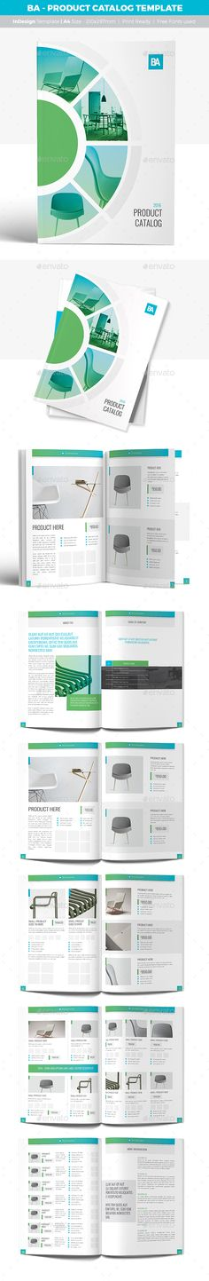 BA - Product Catalog Design Template - Catalogs Brochure Template InDesign INDD. Download here: http://graphicriver.net/item/ba-product-catalog-template/16921730?ref=yinkira