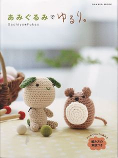 Amigurumi crochet book with really nice japanese patterns.(Free pdf with charts). Japanese Crochet Patterns, Crochet Amigurumi Free Patterns, Crochet Chart, Knitting Books, Crochet Books, Crochet Magazine, Amigurumi Doll, Book Crafts, Crochet Projects