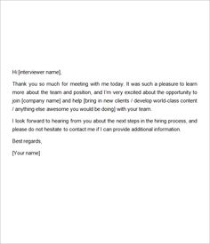 9 Best Interview Thank You Letter Images Interview Thank You