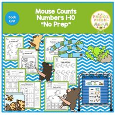 Mouse Counts - Book Unit- Working with Numbers! By Gwyn May 2016 // No commentsMouse Counts - Book Unit- Working with Numbers! Learning Letters, Alphabet Activities, Book Activities, Preschool Activities, Preschool Books, Preschool Printables, Mouse Paint, Numbers 1 10, Shape Books