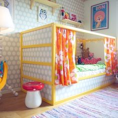 51 Cool Ikea Kura Beds Ideas For Your Kids Rooms. The Ikea beds are elegant furniture among the many product lines found at the Ikea stores in different countries. Diy Lit, Baby Dekor, Ikea Kura Bed, Ideas Habitaciones, Little Girl Rooms, Kid Beds, Boy Room, Girls Bedroom, Room Decor