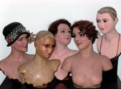 Edwardian and Victorian wax mannequins from Stockmans, the original London tailors dummy and mannequin manufacturer.