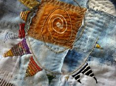 stitching on fabric, embroidery, design, thread, freestyle stitching, Jude Hill Magic points