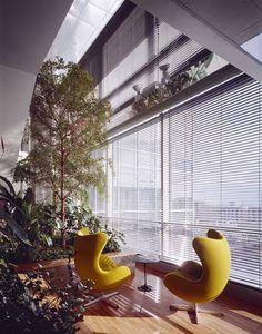 Interior garden at the Genzyme Center, Cambridge, MA, USA