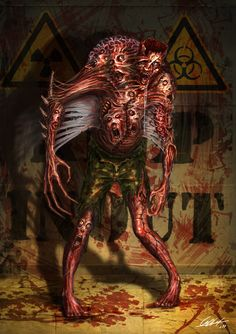 Mutated zombie by ARTOFJUSTAMAN