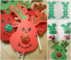 Creative Ideas - DIY Rudolph Reindeer Lollipops | iCreativeIdeas.com Follow Us on Facebook --> https://www.facebook.com/iCreativeIdeas