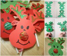Creative Ideas - DIY Rudolph Reindeer Lollipops   iCreativeIdeas.com Follow Us on Facebook --> https://www.facebook.com/iCreativeIdeas
