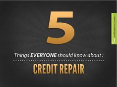 5 Credit Repair Tips Everyone Should Know #creditreporttips