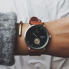 """""""Pine Flaken"""" watch and bracelet from @triwa #triwa  (sponsored)"""