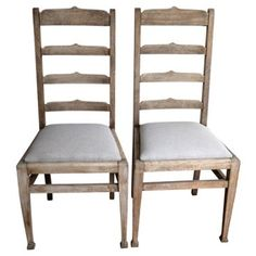 Check out this item at One Kings Lane! Oak Ladder-Back Chairs, Pair