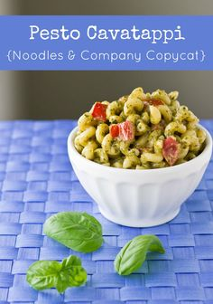 It only takes 6 ingredients and 15 minutes to create Pesto Cavatappi at home. It's so much faster, cheaper, and tastier than the Noodles & Company version!