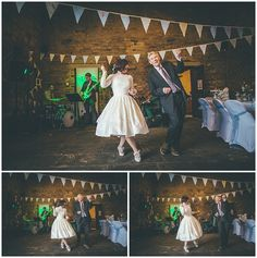 Father and Bride Air Guitar Matt Willis, Rachel Lee, Yorkshire, Father, Tulle, Guitar, Wedding Photography, Bride, Fashion