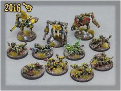 Ork Clans Stompas & Commands all Orks 40k, Warhammer 40k, The Grim, Awesome Stuff, Presents, Miniatures, Fantasy, Gallery, Painting
