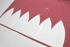 Návod na ušití čepice s mašlí vel.: 46-57 cm (střih zdarma) - SHAPE-patterns.cz Shape Patterns, Shapes, Home Decor, Homemade Home Decor, Decoration Home, Interior Decorating