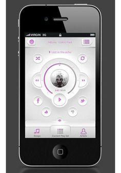 Showcase of Beautiful iPhone App / User Interface Design Inspiration Iphone App Design, App Ui Design, User Interface Design, Layout Design, Gnu Linux, App Design Inspiration, Mobile Ui Design, Music App, Apps