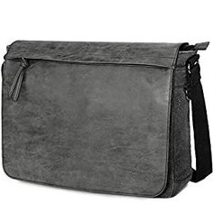 Mens Laptop Messenger Bags Water Resistant Shoulder Bag Tocode PU Leather Canvas Satchel Crossbody Bags Brifecase Office Bag Large Computer Bag for Work College School Travel, Black Best Laptop Messenger Bag, Laptop Shoulder Bag, Laptop Bags, Shoulder Bags, Leather Satchel, Pu Leather, Leather Fashion, Office Bags For Men, Waterproof Laptop Backpack