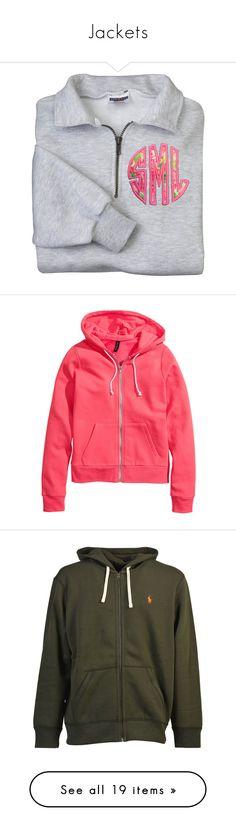 """Jackets"" by ricorada ❤ liked on Polyvore featuring tops, hoodies, sweatshirts, shirts, jackets, sweatshirt, monogram, black, women's clothing and check pattern shirt"