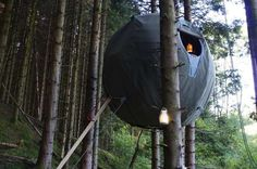 Suspended Spherical Campers - The Orb Shaped Tree Tent Dwelling by Luminair Remixes Tree Houses (GALLERY)