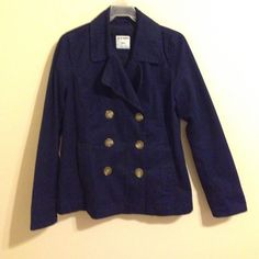 Navy Coat Very nice and comfy coat. It is soft 100% cotton Old Navy Jackets & Coats