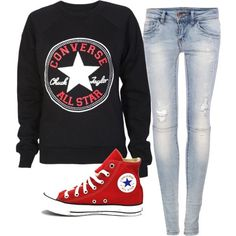 Converse outfit red hi-tops
