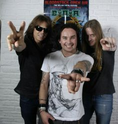 Joey Tempest (Europe), Dany Fielth (Cradle of Fielth) and Bill Steer (Carcass)