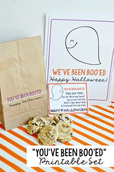 "Fun ""You've Been Boo'ed"" Printable Halloween set"