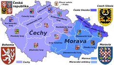 - Bohemia, Moravia and Silesia IV. Czech Republic Flag, European Countries, Learn English, Geography, Science, Teaching, Map, Education, Wikimedia Commons