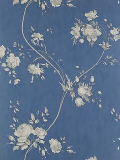 Colefax and Fowler Darcy Navy virágos tapéta Kitty Wallpaper, Vinyl Wallpaper, Vintage Wallpaper Iphone, Blue Floral Wallpaper, French Wallpaper, Navy Wallpaper, Wallpaper Online, Apple Wallpaper, Print Wallpaper