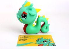 "Kidrobot Crayola Coloring Critter Series Shamrock Dragon 4"" Vinyl Figure #Kidrobot"