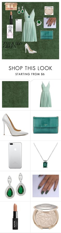 """Glamour in Emerald Green! 💚💎💚💎"" by caitylovesfashion99 ❤ liked on Polyvore featuring Elie Saab, Jimmy Choo, Lanvin, NYX and Sephora Collection"