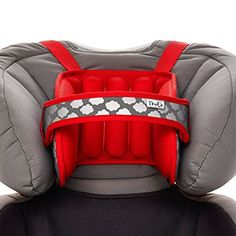 Napup Child Car Seat Head Support Sleep Comfortably On The Go Red