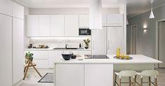 Säde valkoinen 1 - Topi-Keittiöt Office Desk, Corner Desk, Table, Furniture, Home Decor, Kitchens, Design, Corner Table, Desk Office