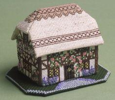 Thatched Foxglove Cottage 3D Cross Stitch Kit £14.95