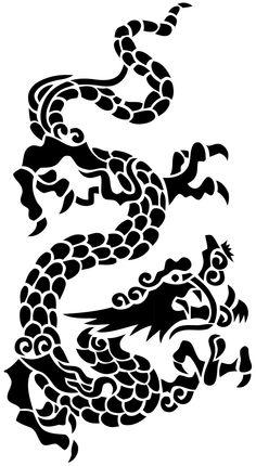 chinese dragon   Chinese Dragon Stencil by ~beraka on deviantART