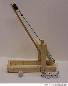 Make a backyard catapult