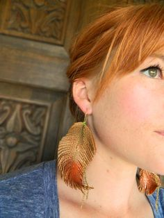 DIY Boho Leather Feather Earrings