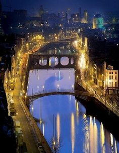 The River Liffey and a romantic night for walking. With optimal health often comes clarity of thought.